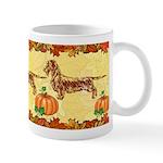Autumn Wirehaired Dachshund Mugs