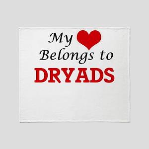 My Heart Belongs to Dryads Throw Blanket