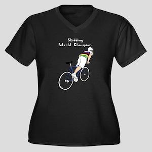 Skidding World Champion (In Rain Plus Size T-Shirt