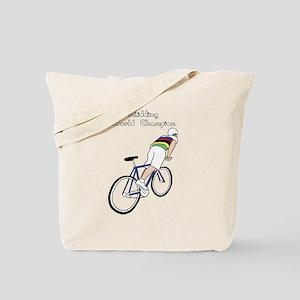 Skidding World Champion (In Rainbow Jerse Tote Bag