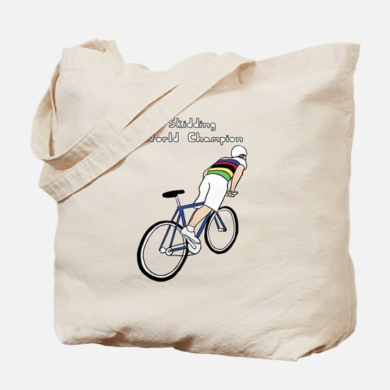 Skidding World Champion (In Rainbow Jerse Tote Bag