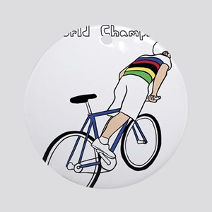 Skidding World Champion (In Rainbow Round Ornament