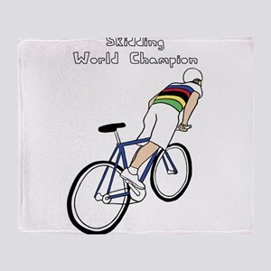 Skidding World Champion (In Rainbow Throw Blanket