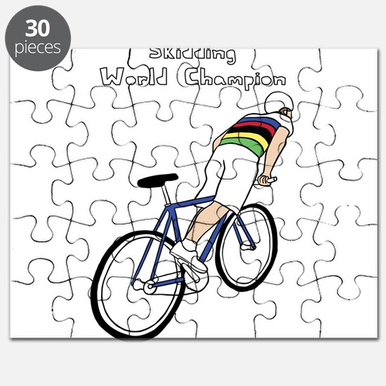 Skidding World Champion (In Rainbow Jersey) Puzzle
