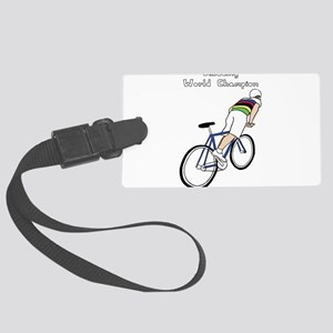 Skidding World Champion (In Rain Large Luggage Tag