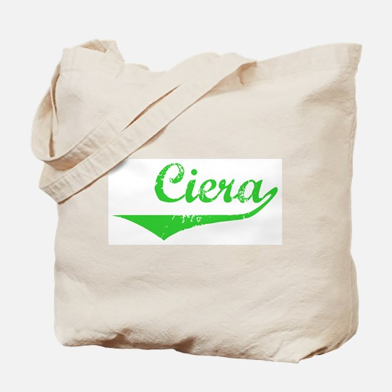Ciera Vintage (Green) Tote Bag