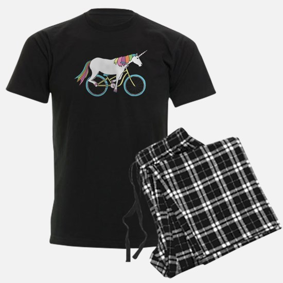 Unicorn Riding Bike pajamas