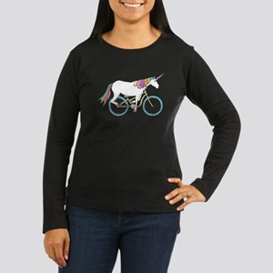 Unicorn Riding Bike Long Sleeve T-Shirt