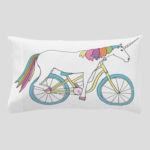 Unicorn Riding Bike Pillow Case