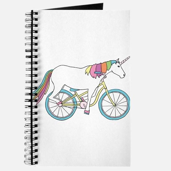 Unicorn Riding Bike Journal