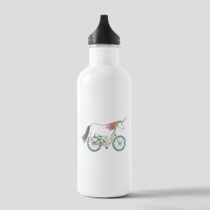 Unicorn Riding Bike Stainless Water Bottle 1.0L