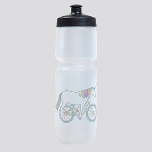 Unicorn Riding Bike Sports Bottle