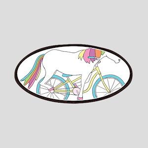 Unicorn Riding Bike Patch
