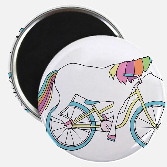 Unicorn Riding Bike Magnets