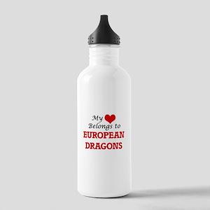 My Heart Belongs to Eu Stainless Water Bottle 1.0L
