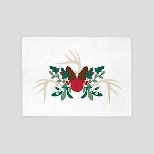 Christmas Antlers 5'x7'Area Rug