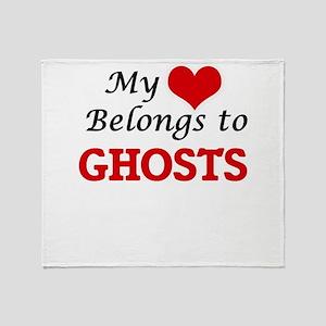 My Heart Belongs to Ghosts Throw Blanket