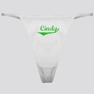 Cindy Vintage (Green) Classic Thong