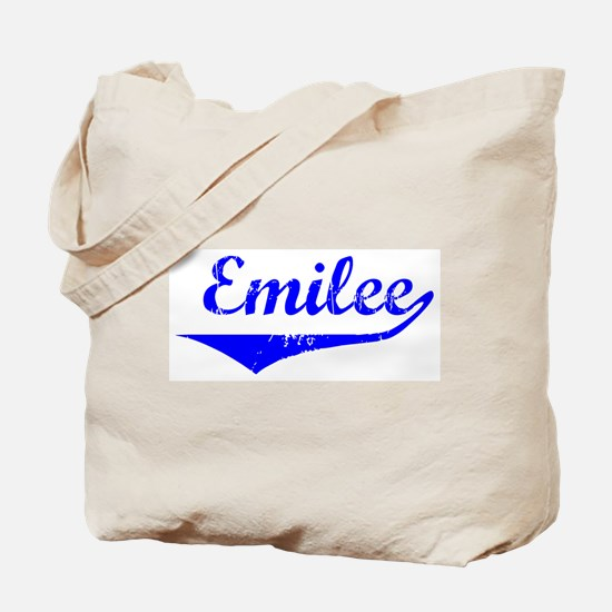 Emilee Vintage (Blue) Tote Bag
