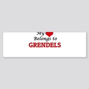 My Heart Belongs to Grendels Bumper Sticker