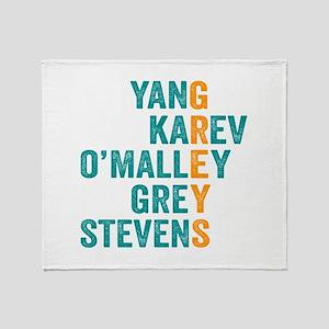Grey's Anatomy Vertical. Throw Blanket