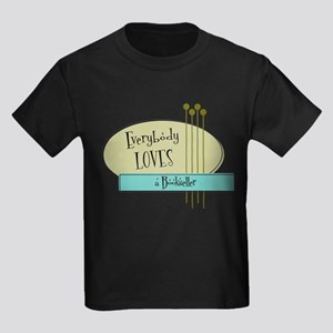 Everybody Loves a Bookseller Kids Dark T-Shirt