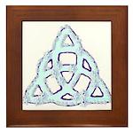 Ice Triquetra Framed Tile