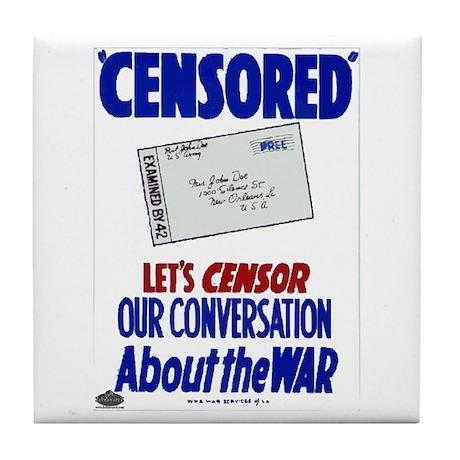 Censored! Tile Coaster