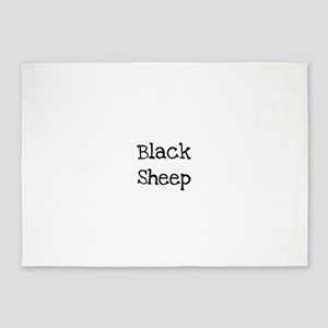 Black Sheep 5'x7'Area Rug
