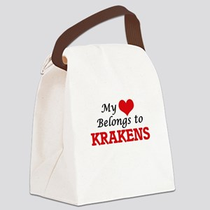 My Heart Belongs to Krakens Canvas Lunch Bag