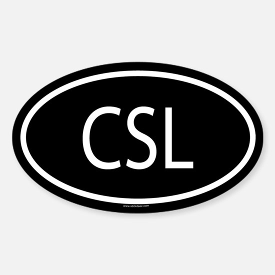 CSL Oval Decal