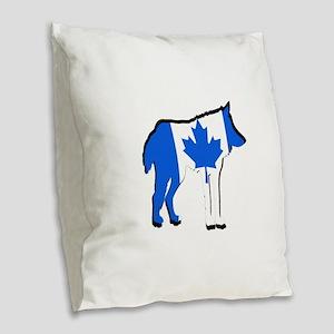 CANADA Burlap Throw Pillow