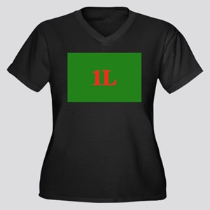 1L Green/Red Plus Size T-Shirt