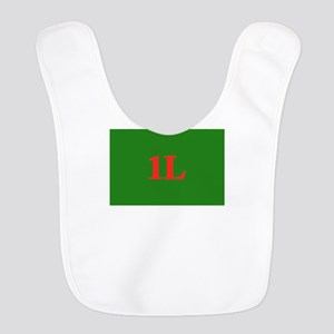 1L Green/Red Polyester Baby Bib