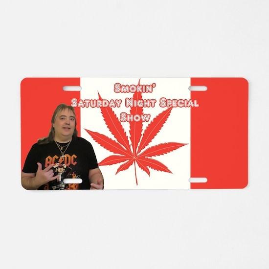 Big Johnny Blaze Banner Aluminum License Plate