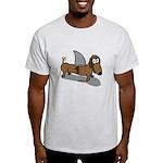Wiener Dog with a Sharks Fin Light T-Shirt
