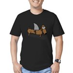Wiener Dog with a Shar Men's Fitted T-Shirt (dark)