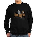 Wiener Dog with a Sharks Fin Sweatshirt (dark)