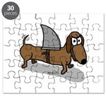 Wiener Dog with a Sharks Fin Puzzle