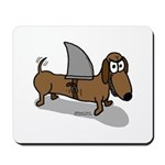 Wiener Dog with a Sharks Fin Mousepad