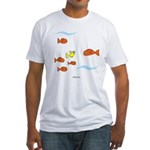 Fish School Bathroom Fitted T-Shirt