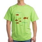 Fish School Bathroom Green T-Shirt
