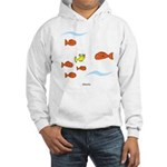 Fish School Bathroom Hooded Sweatshirt