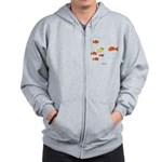 Fish School Bathroom Zip Hoodie
