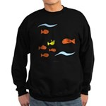 Fish School Bathroom Sweatshirt (dark)
