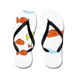 Fish School Bathroom Flip Flops