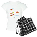 Fish School Bathroom Women's Light Pajamas