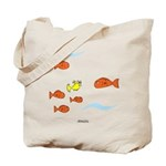 Fish School Bathroom Tote Bag