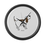 Hound Dog Large Wall Clock