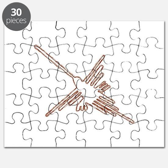 Nazca Hummingbird Sketch Puzzle